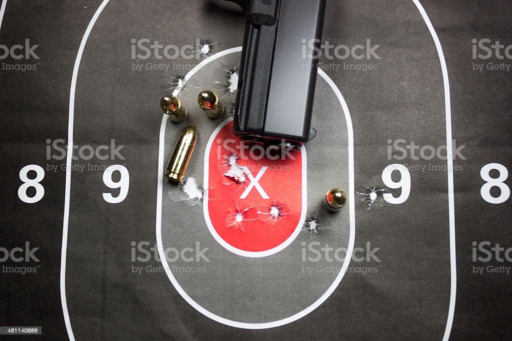 Gun Shooting Practice stock photo