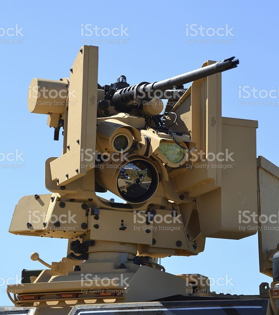 Gun Turret on Military Vehicle stock photo