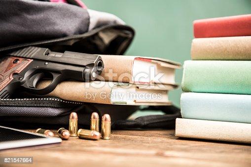 istock Gun violence in school setting. 821547664
