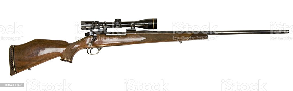 Gun - Wetheby hunting rifle w/scope stock photo