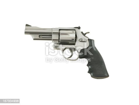 44 Magnum isolated on white with clipping path.