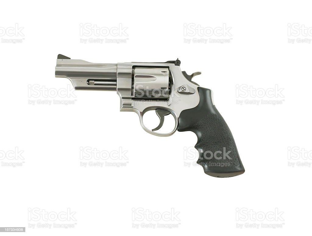 Pistola con trazado de recorte - foto de stock