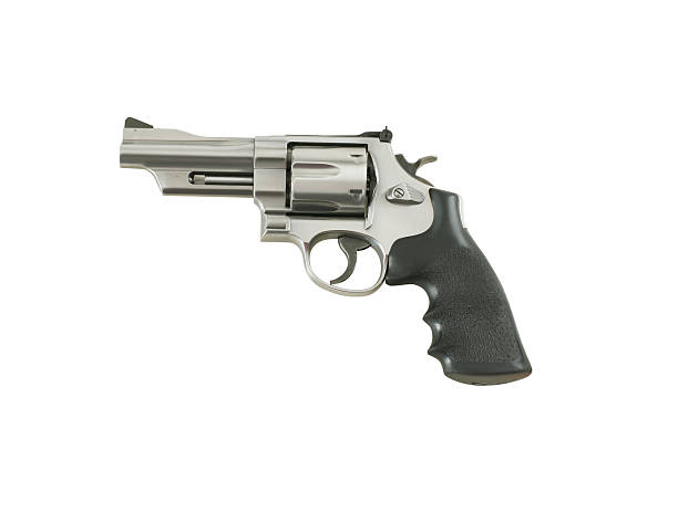 Gun with Clipping Path 44 Magnum isolated on white with clipping path. pistol stock pictures, royalty-free photos & images