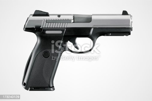 Gun with clipping path.