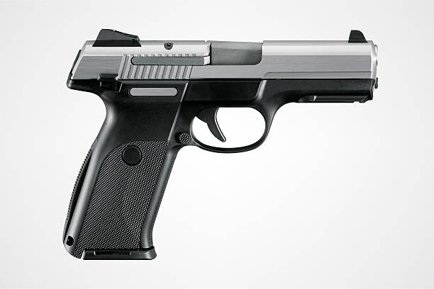 Gun With Clipping Path Gun with clipping path. pistol stock pictures, royalty-free photos & images