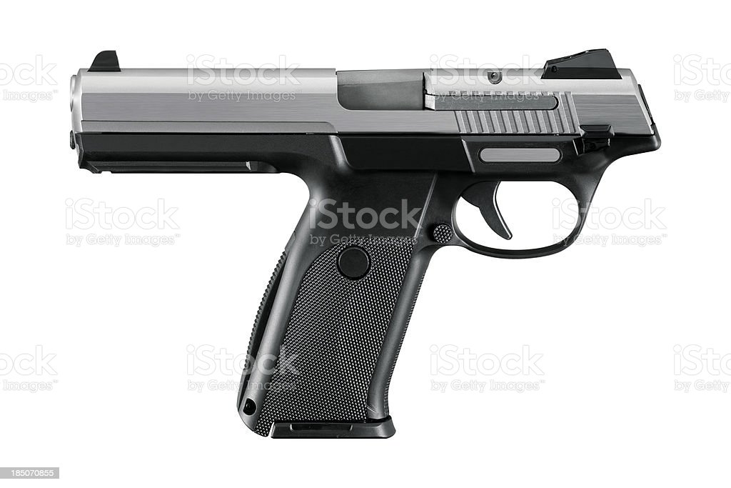 Gun With Clipping Path royalty-free stock photo