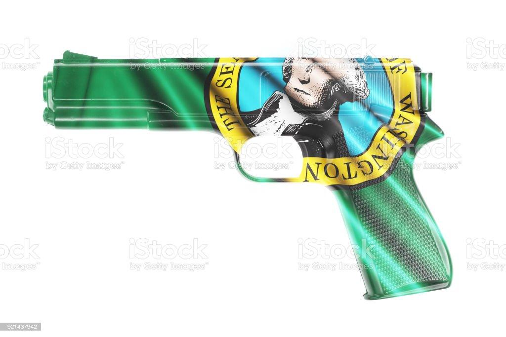 Fotografía de Pistola Envuelto En La Bandera Del Estado De ...