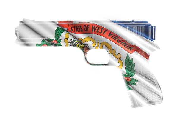 Gun wrapped in the West Virginia state flag A stock photo of a Gun wrapped in the West Virginia state flag west virginia us state stock pictures, royalty-free photos & images