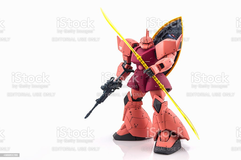 Gundam model Master Grade model. stock photo
