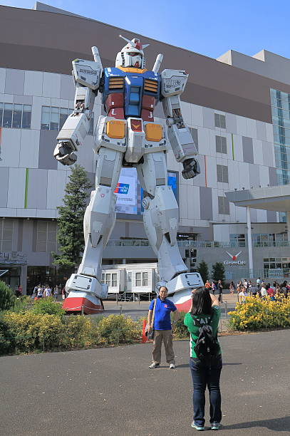 Gundam Odaiba Tokyo Japan stock photo