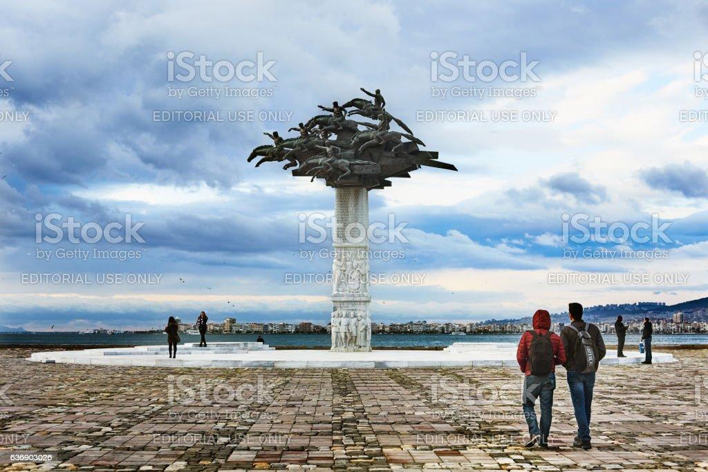 Gundogdu square izmir, Turkey stock photo