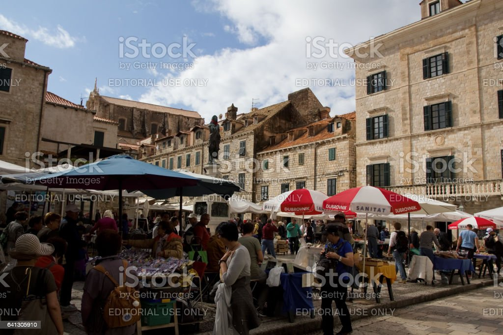 gundulic square market stock photo