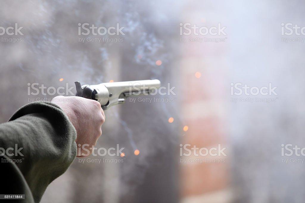 Gunfire stock photo