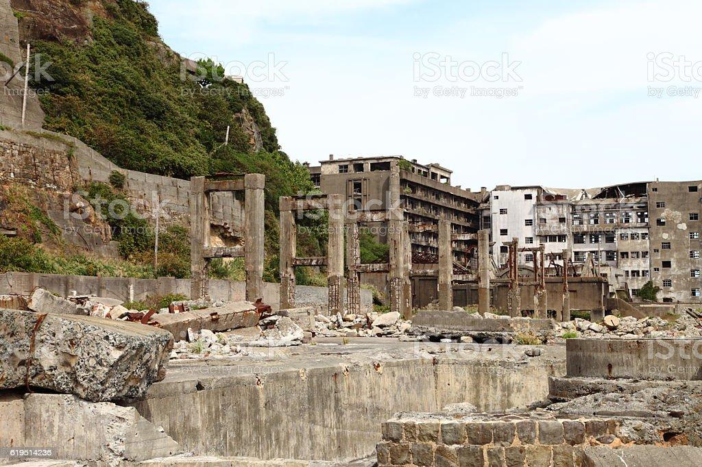 Gunkanjima - Battleship Island in Nagasaki, Japan stock photo