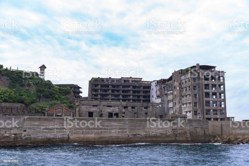 Gunkanjima - Battleship Island in Nagasaki, Japan (UNESCO World Heritage) stock photo