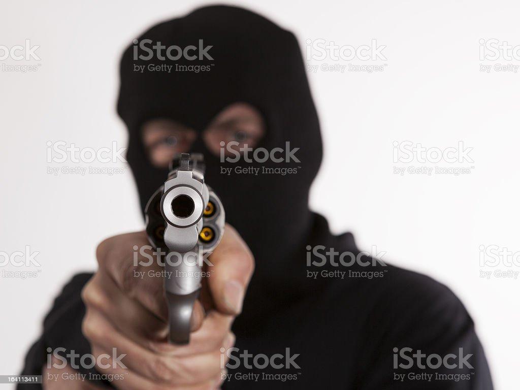 Tirador con .357 Magnum - foto de stock