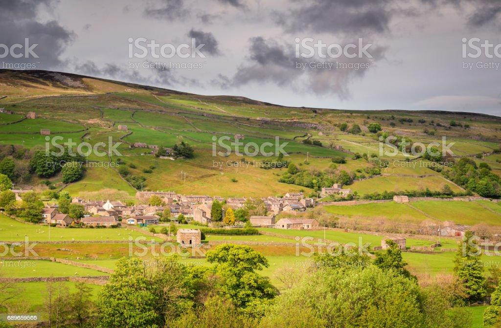 Gunnerside Village in Swaledale stock photo
