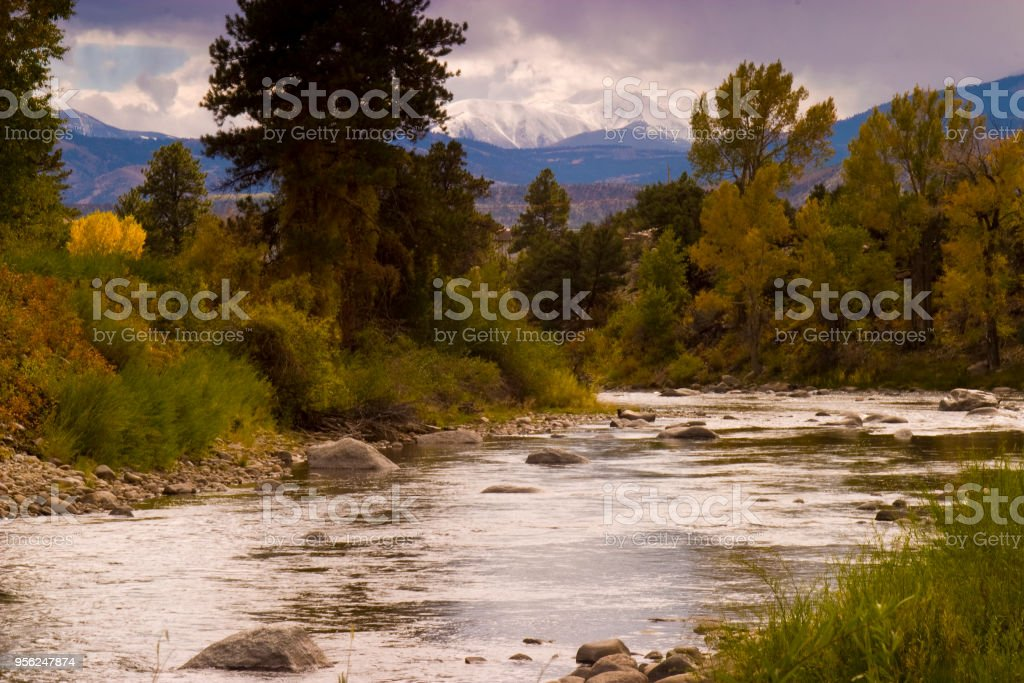 gunnison river stock photo