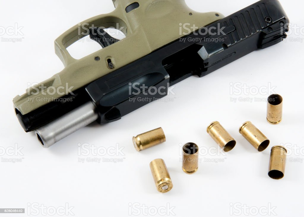 Guns an Ammo stock photo