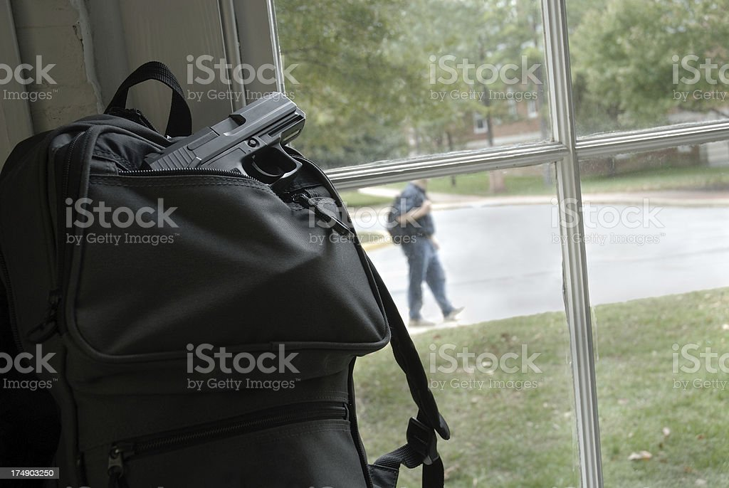 Guns and School Violence royalty-free stock photo