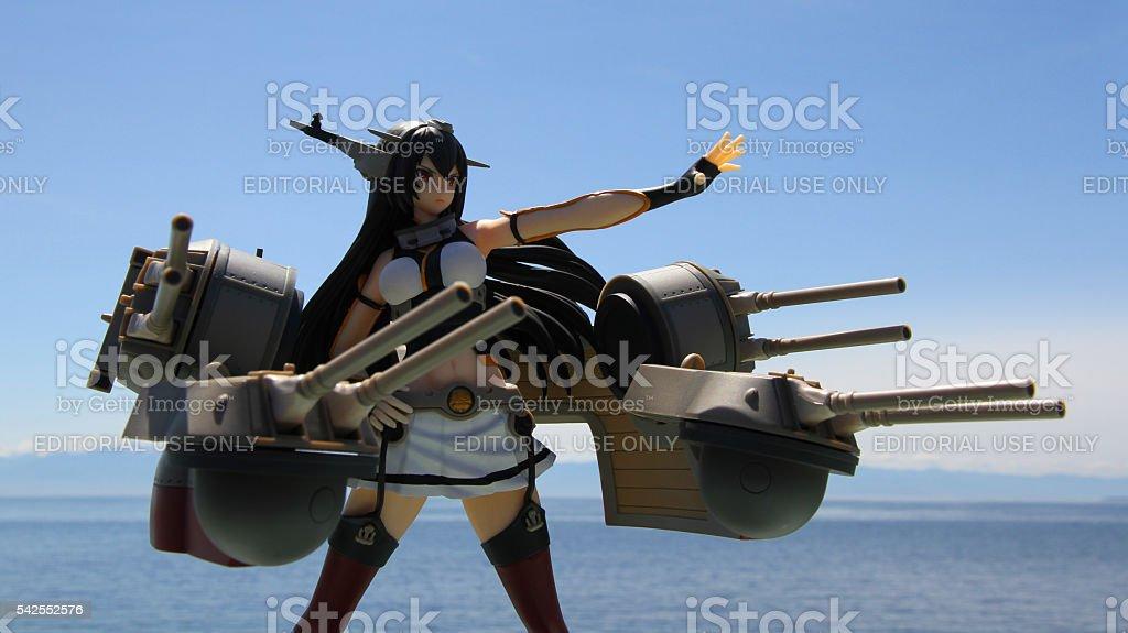 Guns and Sky stock photo
