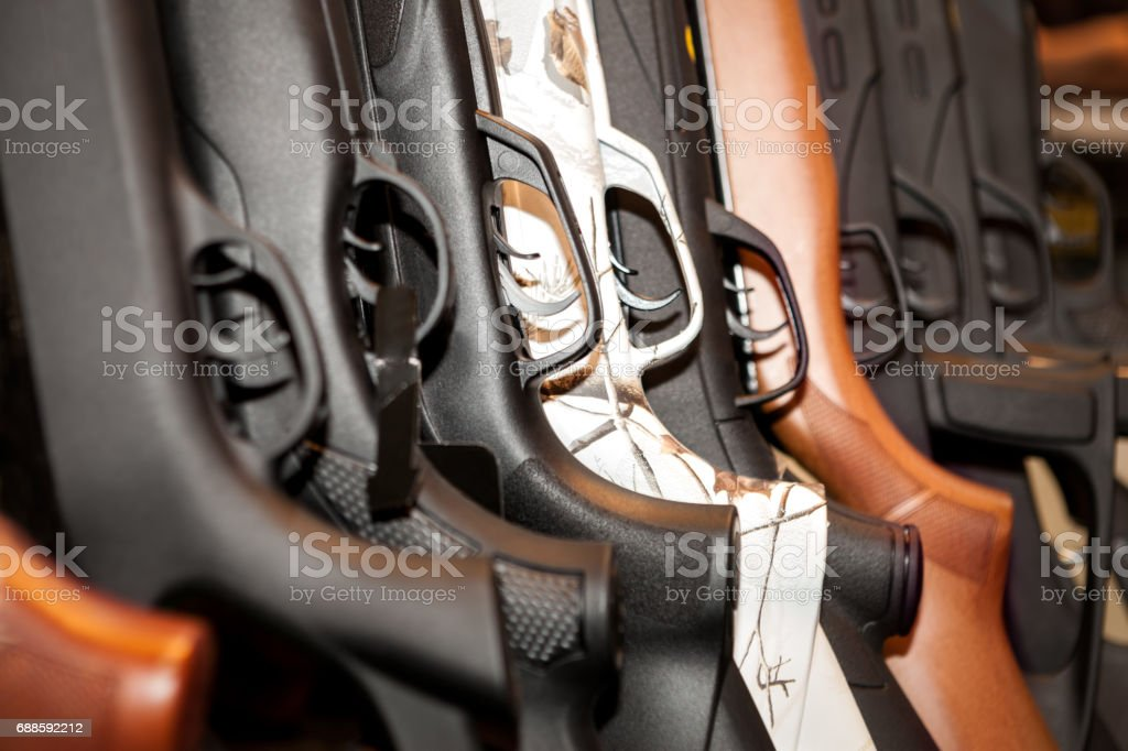 Guns arsenal collection stock photo