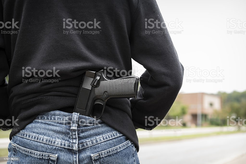 Guns at School with Copy Space stock photo