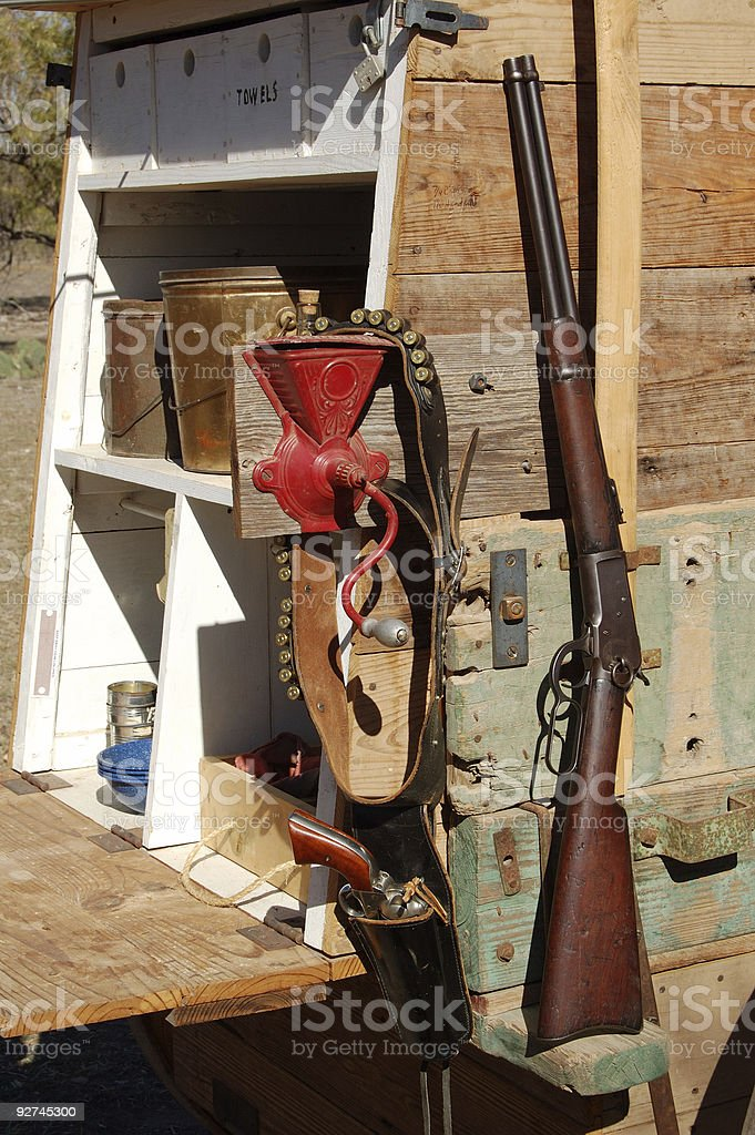 Guns On Chuck Wagon stock photo
