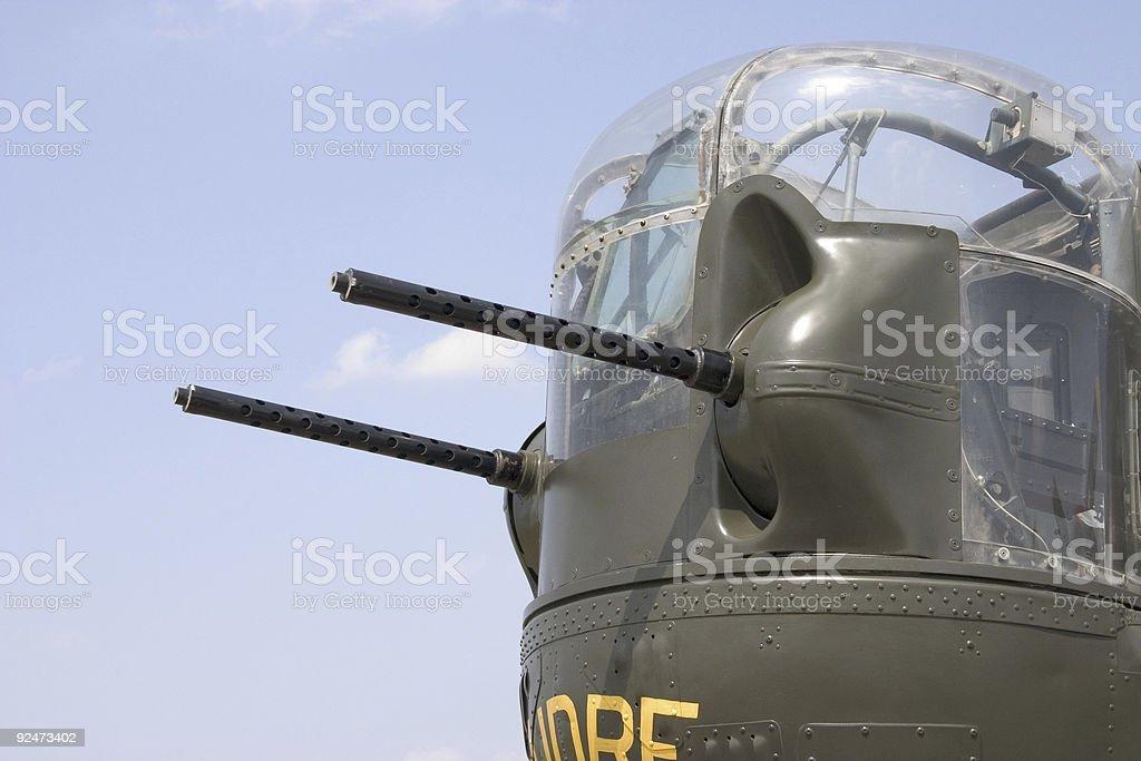 B-24 Guns royalty-free stock photo