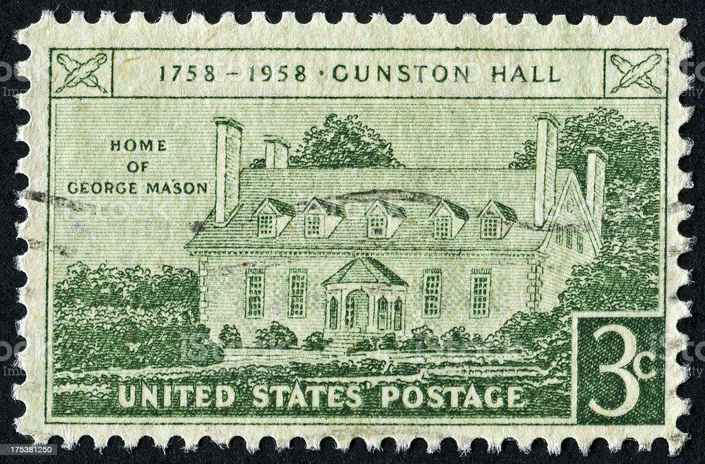 Gunston Hall Stamp royalty-free stock photo