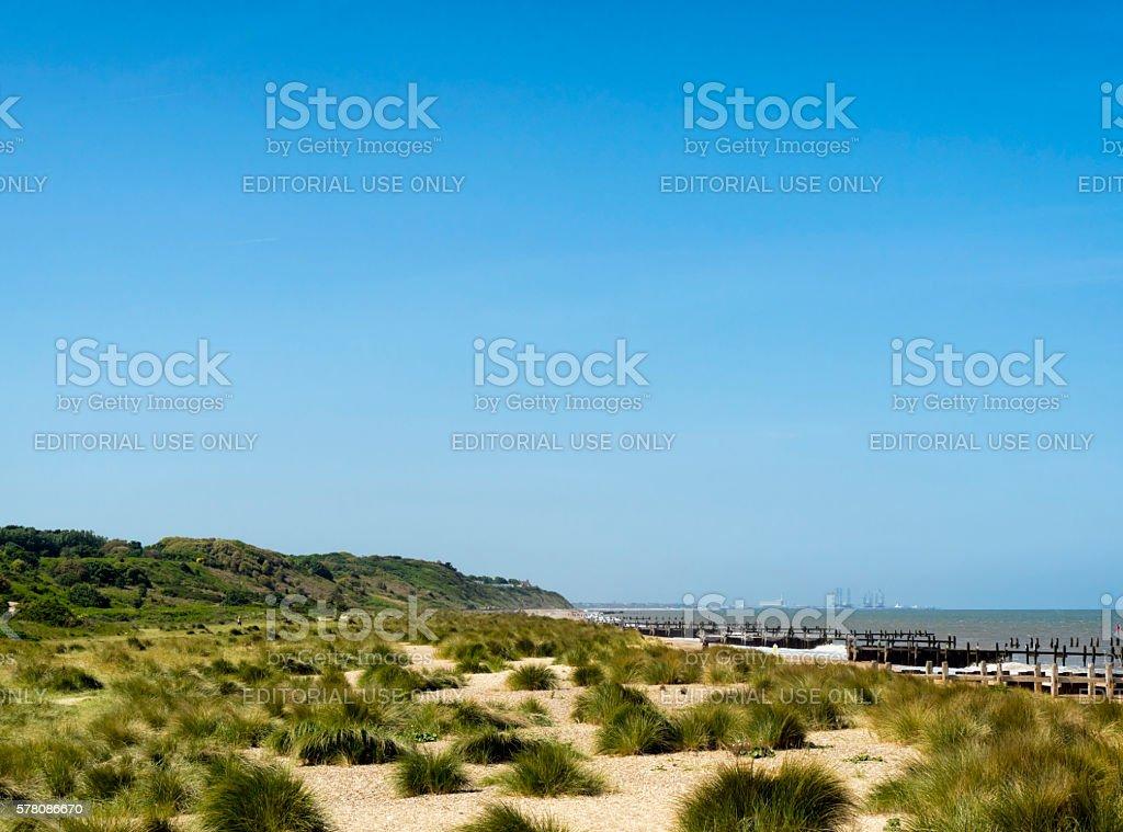 Gunton Denes beach, Suffolk stock photo