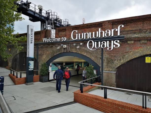 Gunwharf Quays - Portsmouth stock photo