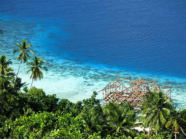 guraici archipelago, Halmahera, Maluku, Indonesia stock photo