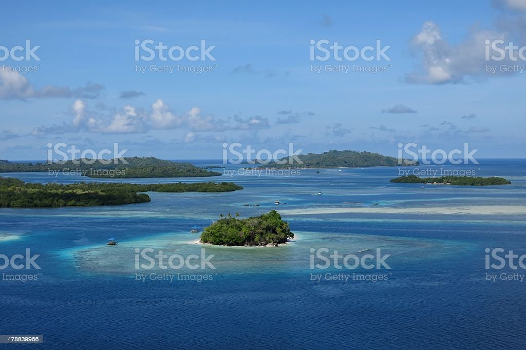 guraici archipelago, Halmahera, Maluku, Indonesia stock photo