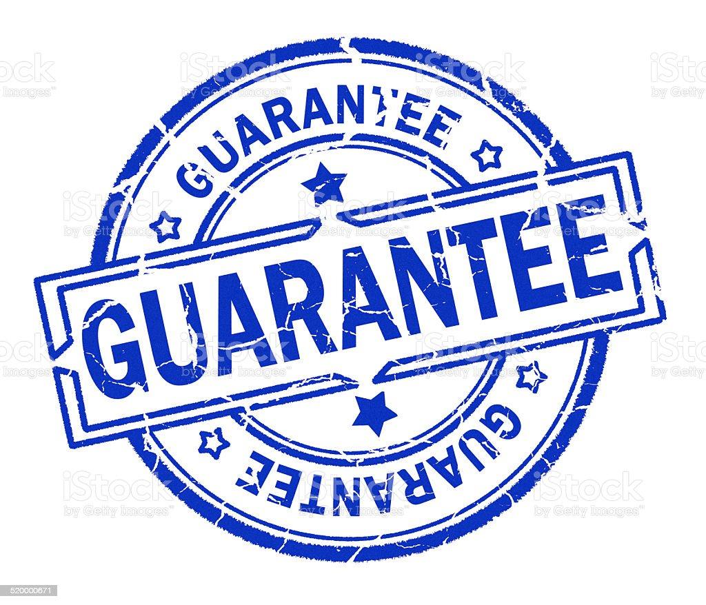 gurantee stamp stock photo
