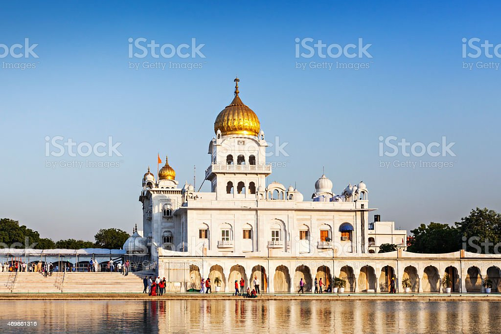 Gurdwara Bangla Sahib stock photo