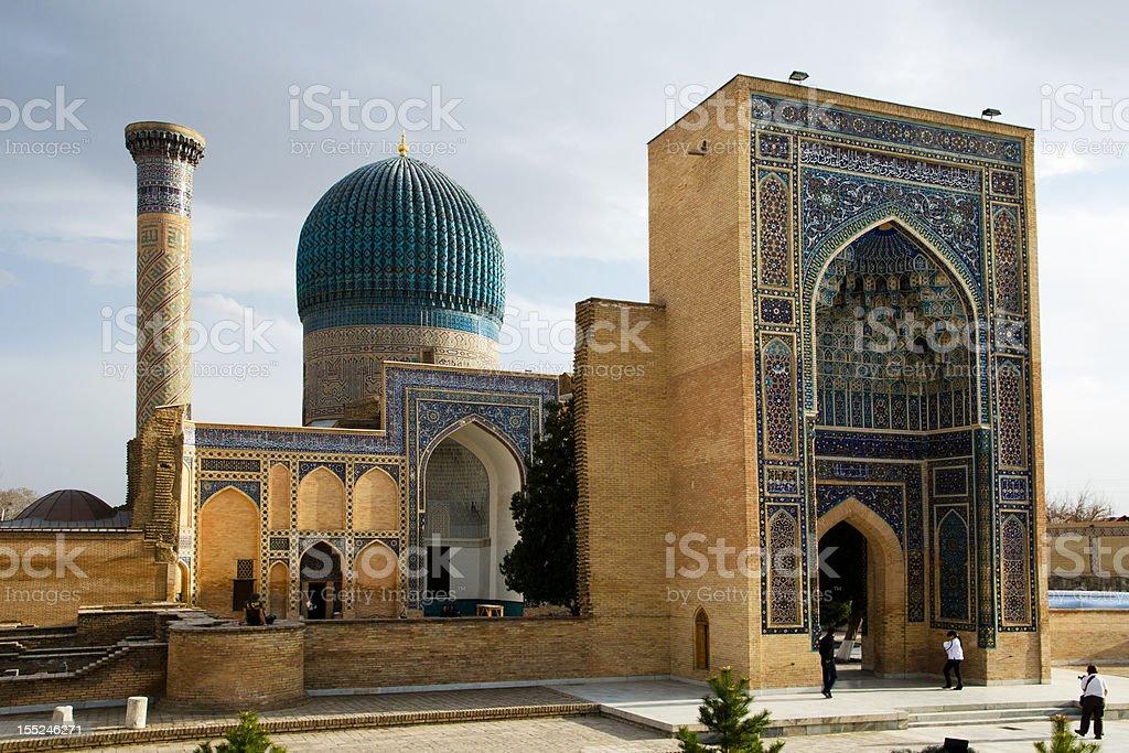 Gur-e Amir Mausoleum in Samarqand stock photo