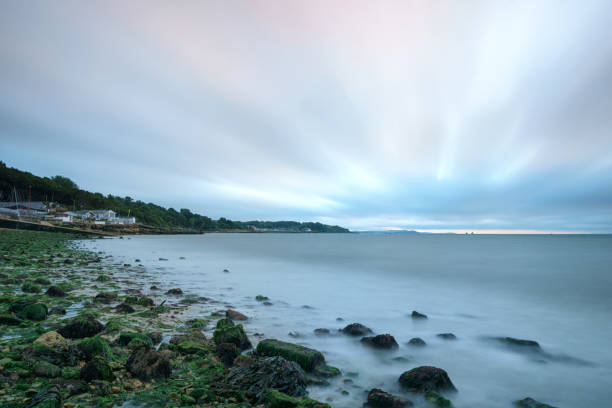 Gurnard Seafront, Isle Of Wight (UK) - Long exposition stock photo