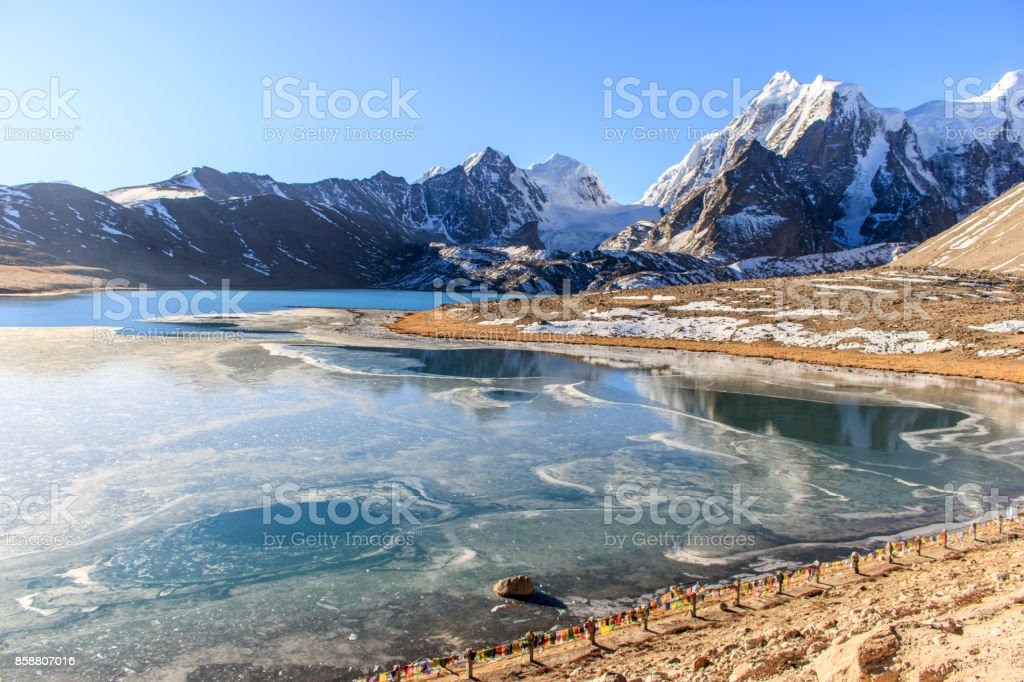 Gurudongmer Lake stock photo