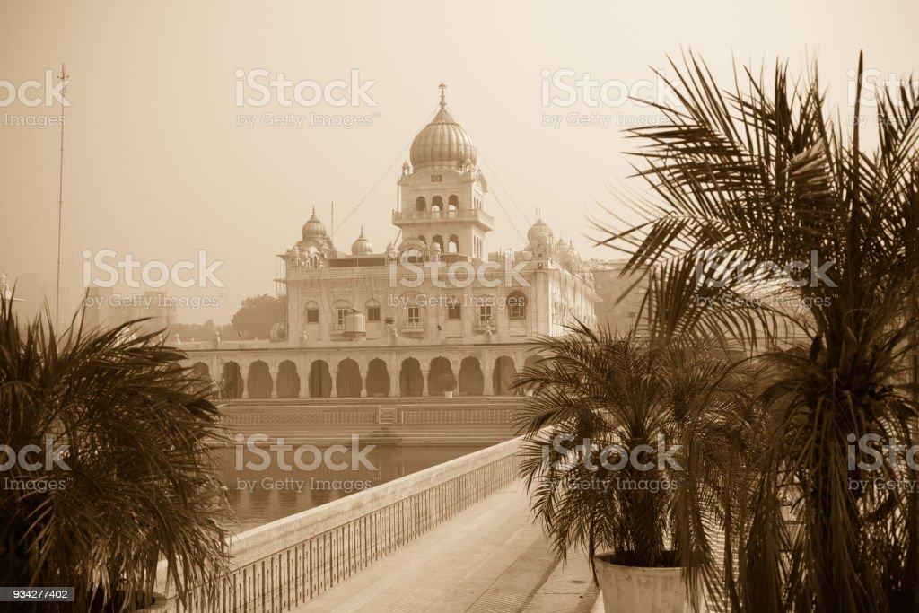 Gurudwara Bangla Sahib, Delhi, India stock photo