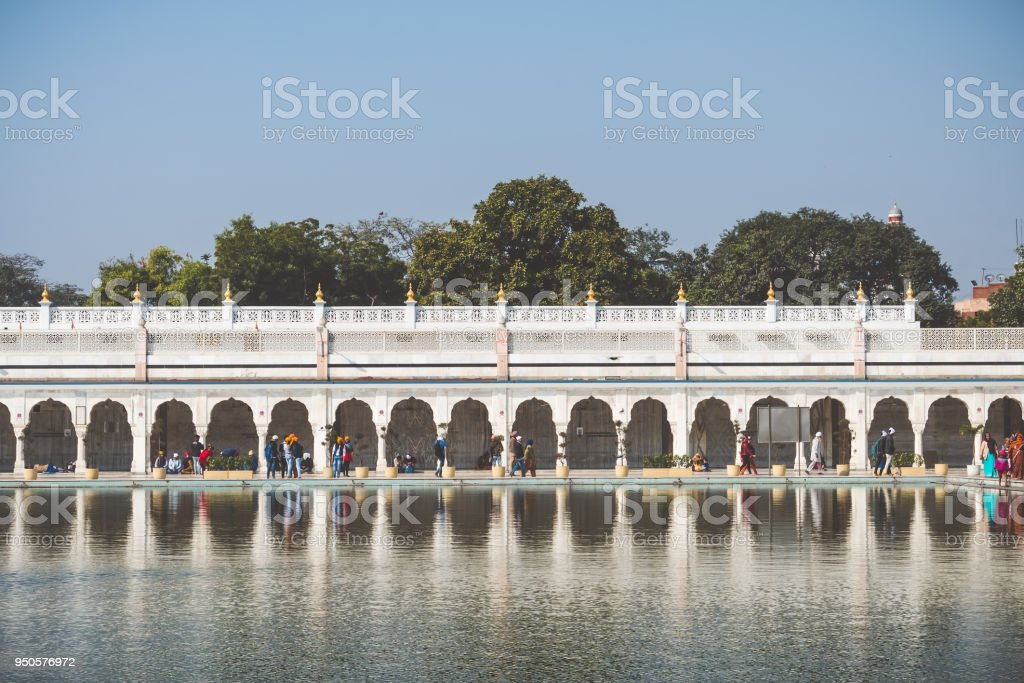 Gurudwara Bangla Sahib, Golden Temple in Delhi stock photo