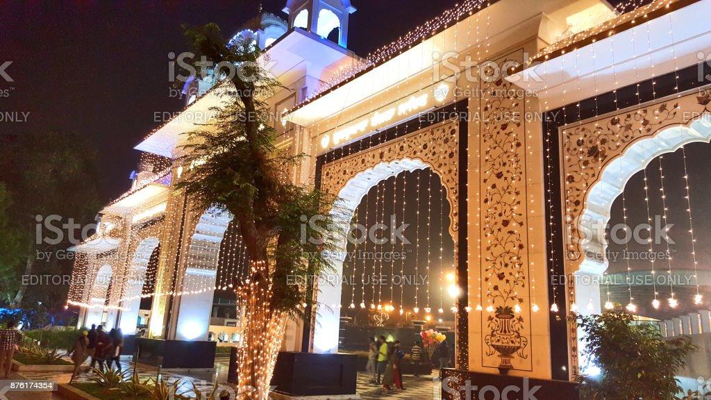 Gurudwara Bangla Sahib, New Delhi stock photo