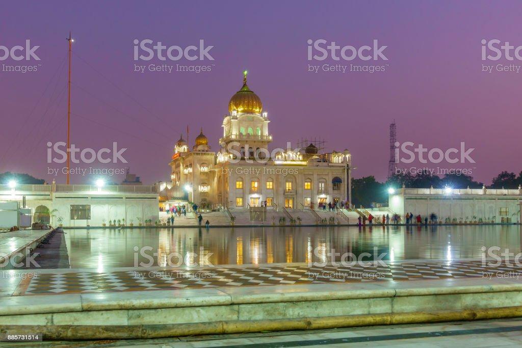 Gurudwara Bangla Sahib Sik temple stock photo