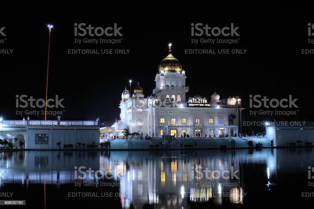 Gurudwara Bangla Sahib, Sikh gurdwara in Delhi India. stock photo