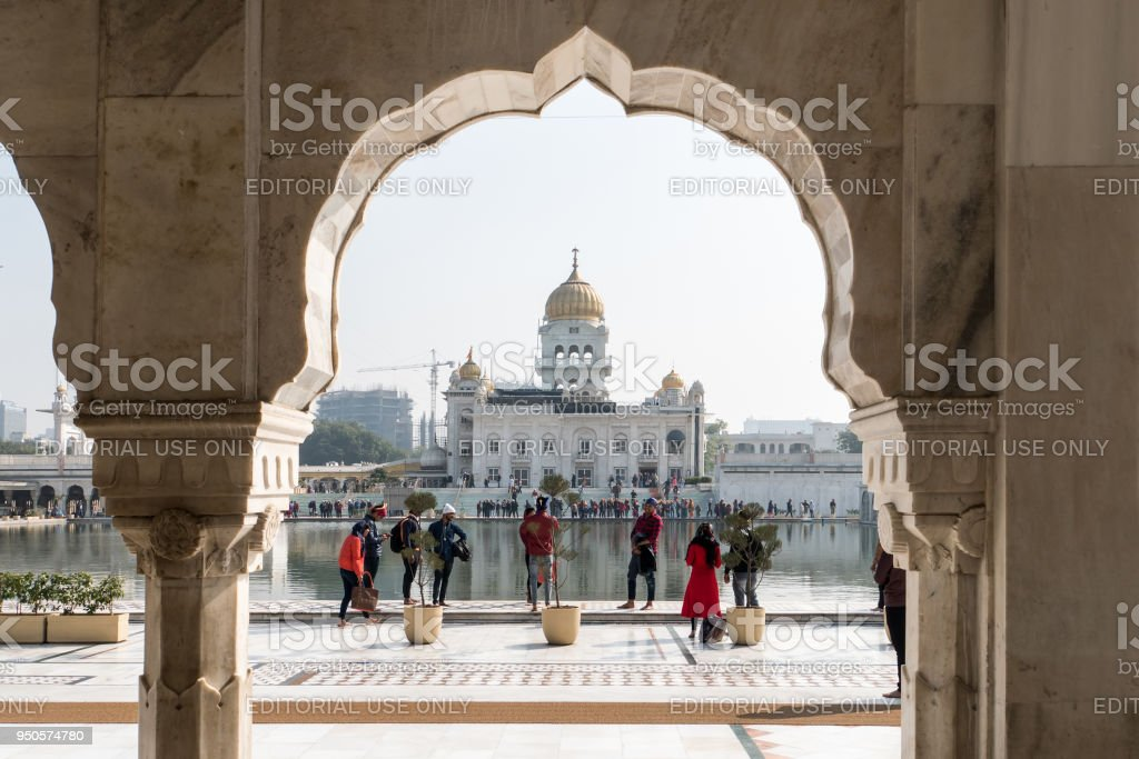 Gurudwara Bangla Sahib Sikh Temple, New Delhi, India stock photo