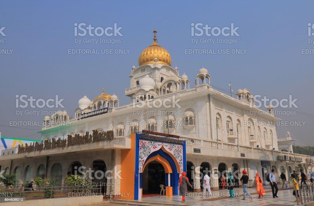 Gurudwara Bangla Sahib temple New Delhi India stock photo