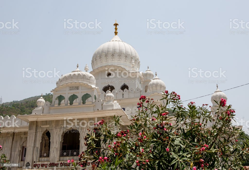 Gurudwara Mandi is a Sacred place for Sikhs.  Here are kept the sacred relics of the Sikh owned by Guru Gobind Singh. stock photo