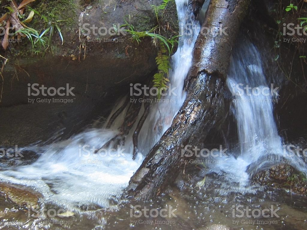 Gushing water fountain in Thailand. stock photo