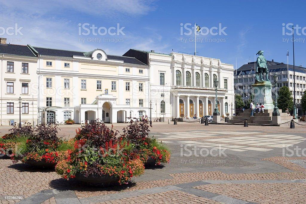 Gustav Adolf Square, Gothenburg, Sweden royalty-free stock photo