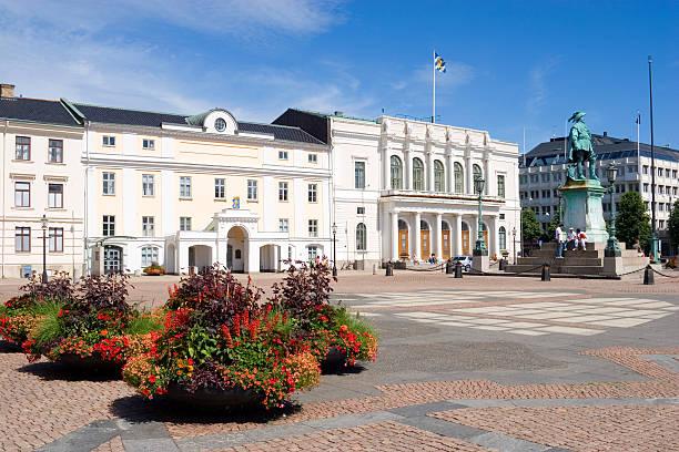 Gustav Adolf Square, Gothenburg, Sweden bildbanksfoto